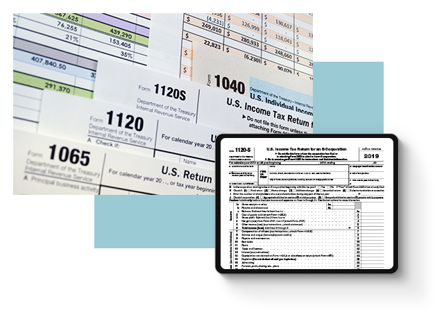 Image of individual and business tax forms